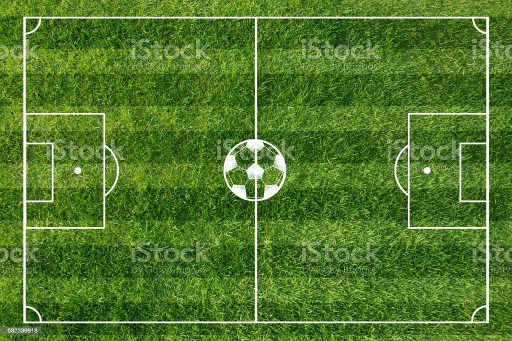 Football field foto stock royalty-free