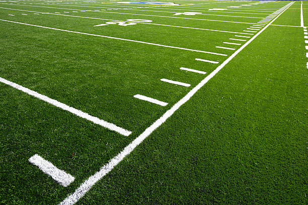 Football Field  soccer field stock pictures, royalty-free photos & images