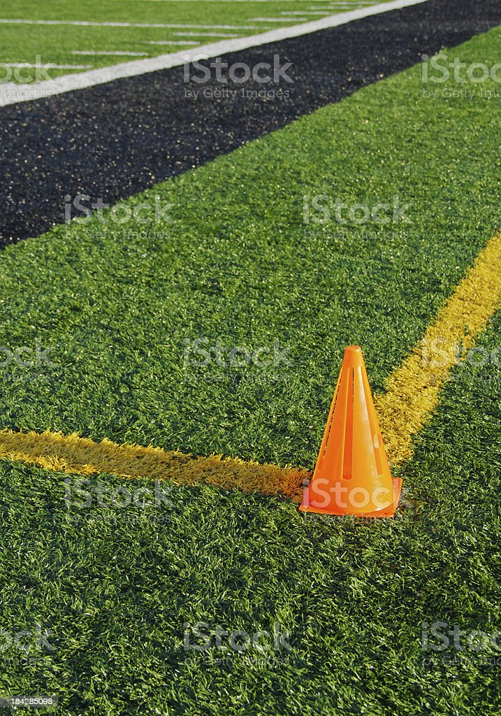 Football Field Sideline royalty-free stock photo