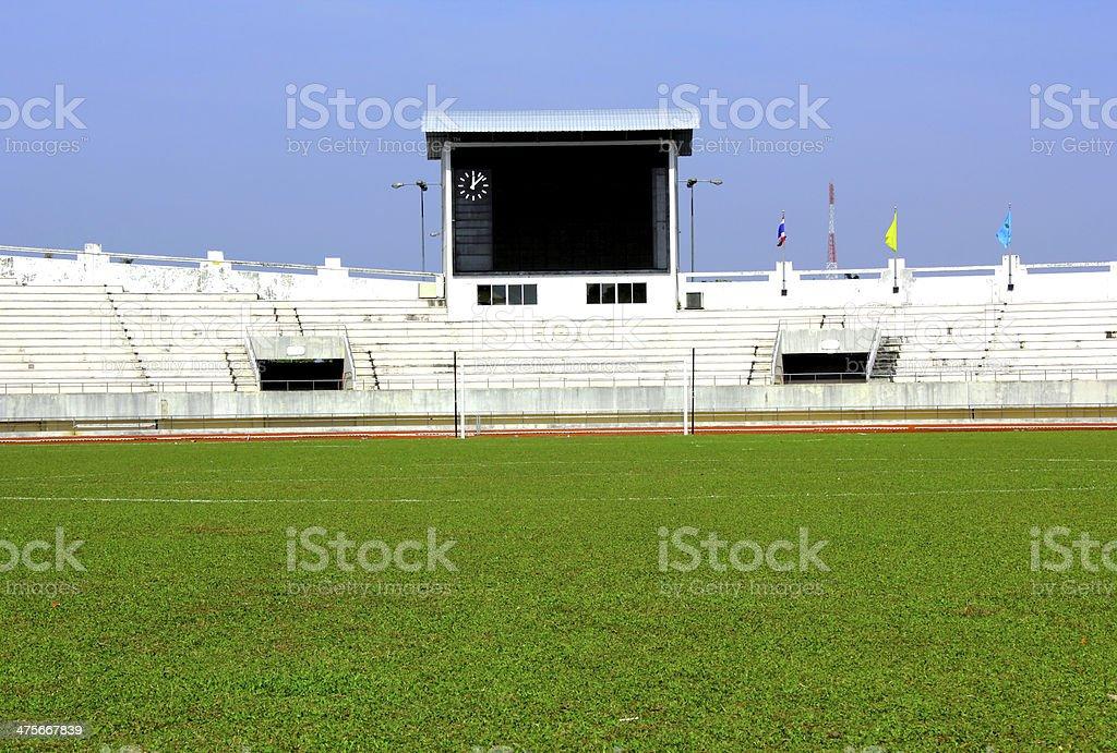 football field with score board