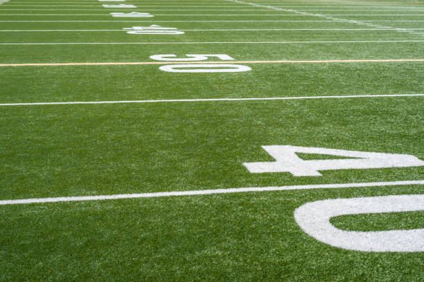 football field yard lines and numbers football field yard lines and numbers high school sports stock pictures, royalty-free photos & images