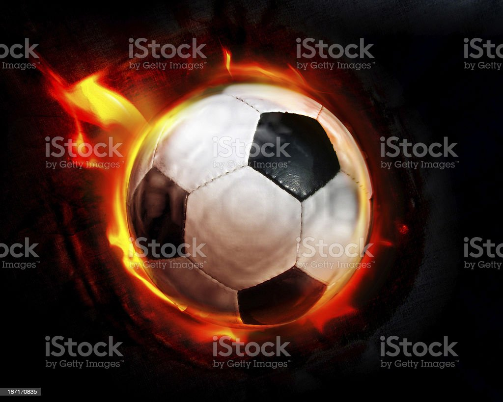 Football fire royalty-free stock photo