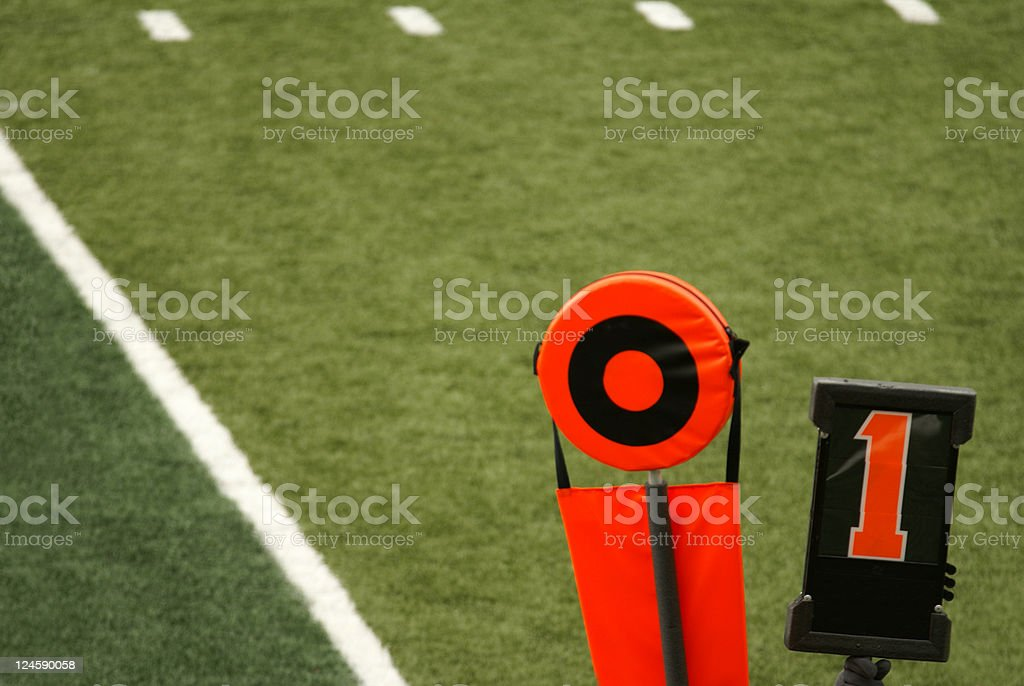 Football First and Ten stock photo