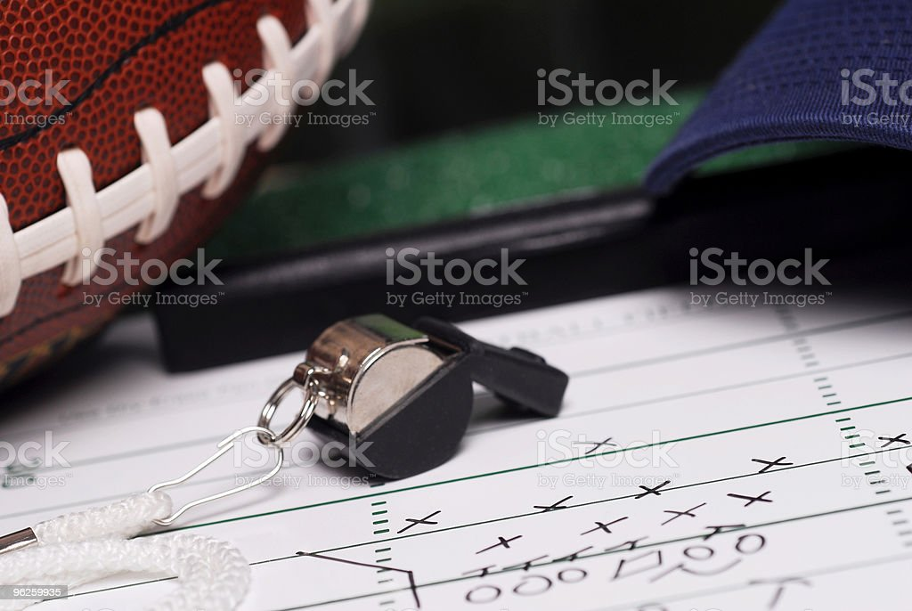 Football Game Plan stock photo
