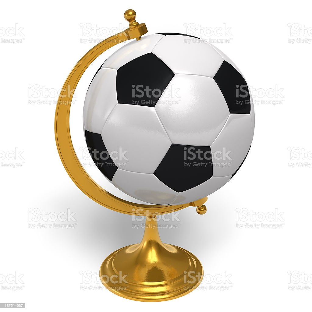 Football globe royalty-free stock photo