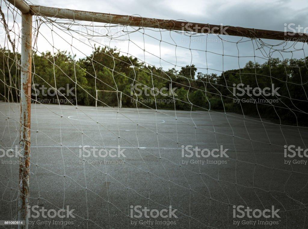football goa stock photo
