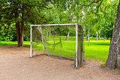 istock Football goal in a green summer park 1268194062