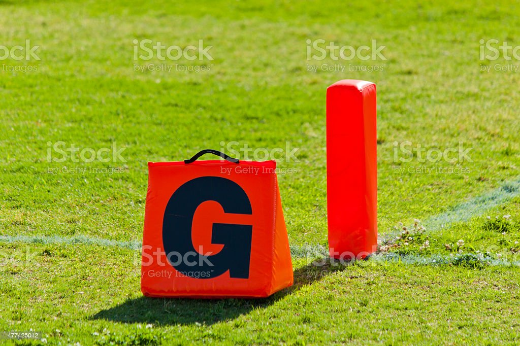 Football Goal Line stock photo