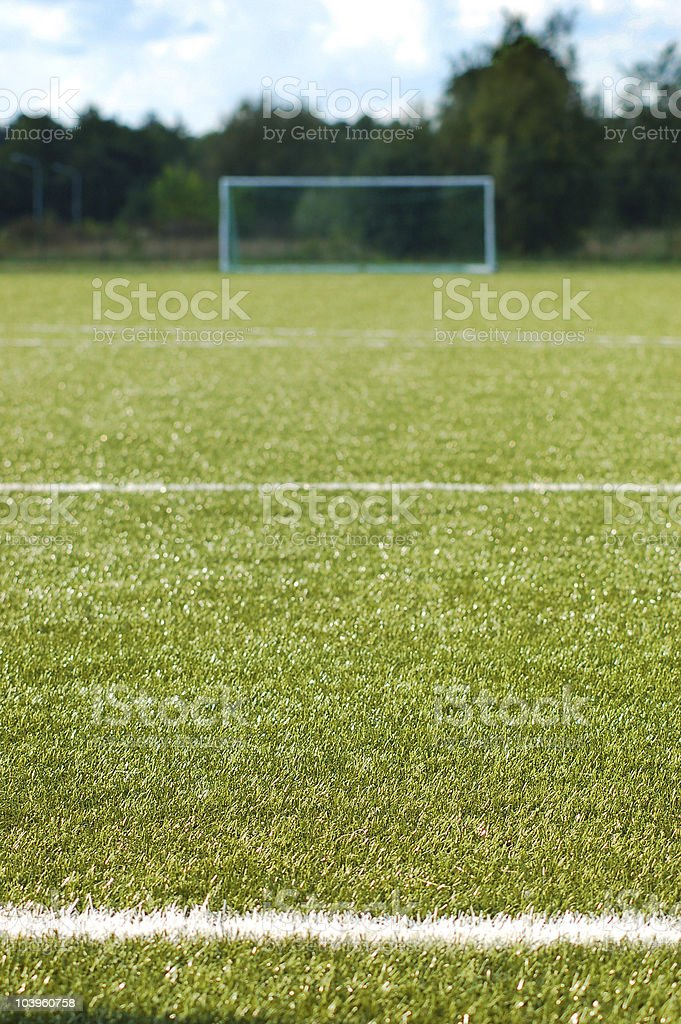 Football goal royalty-free stock photo