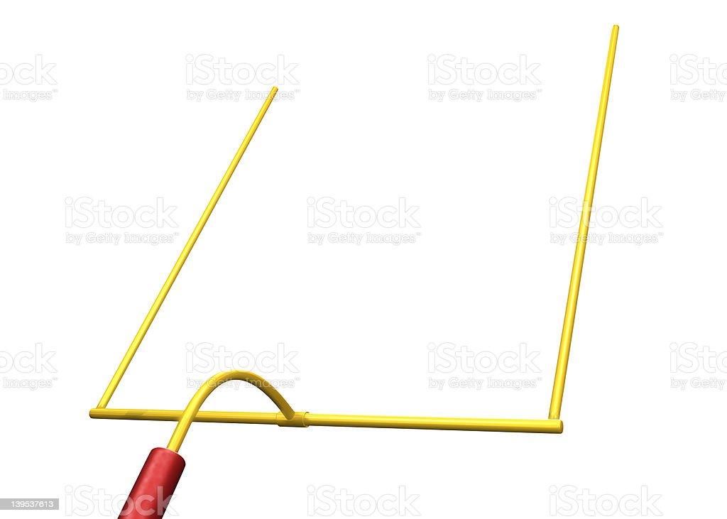 Football Goal Post royalty-free stock photo