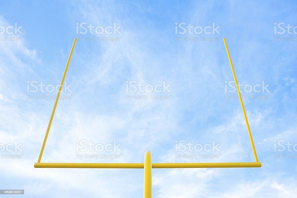Trave de Futebol americano - foto de acervo
