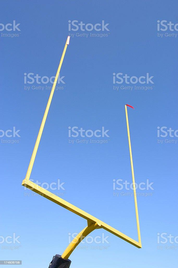 Football Goal Posts stock photo