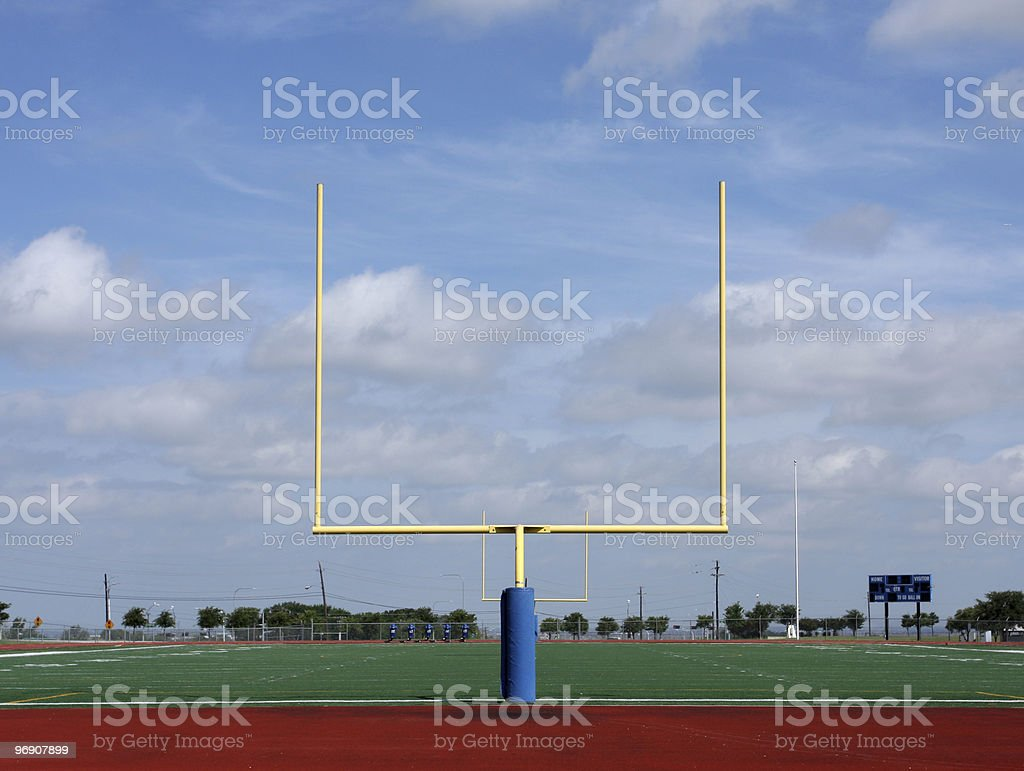Football Goal Posts royalty-free stock photo