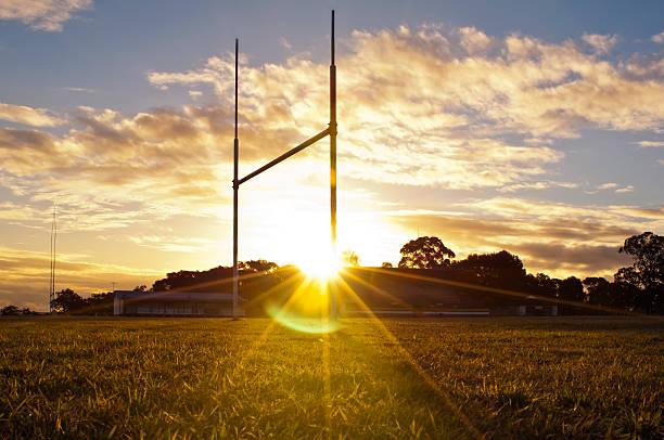 fußball-ziele - rugby stock-fotos und bilder