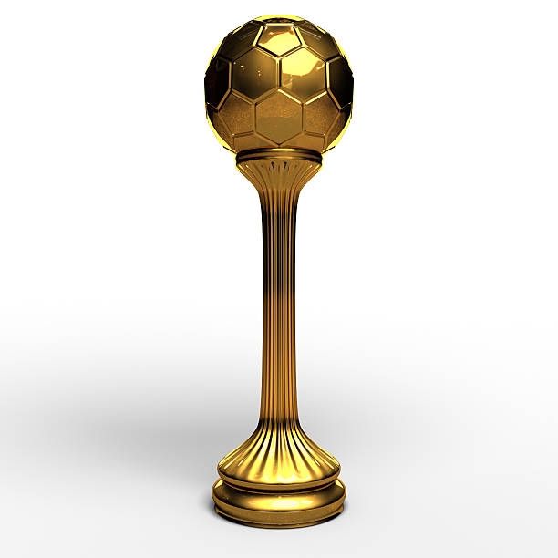 Football gold cup stock photo