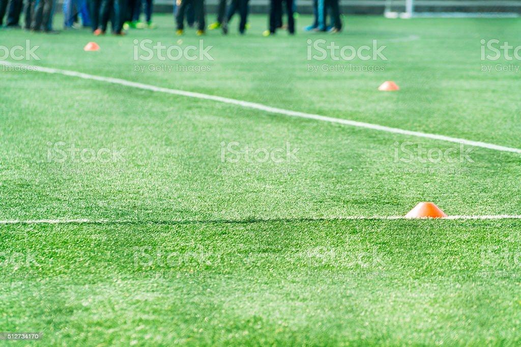 フットボールの接地 ストックフォト