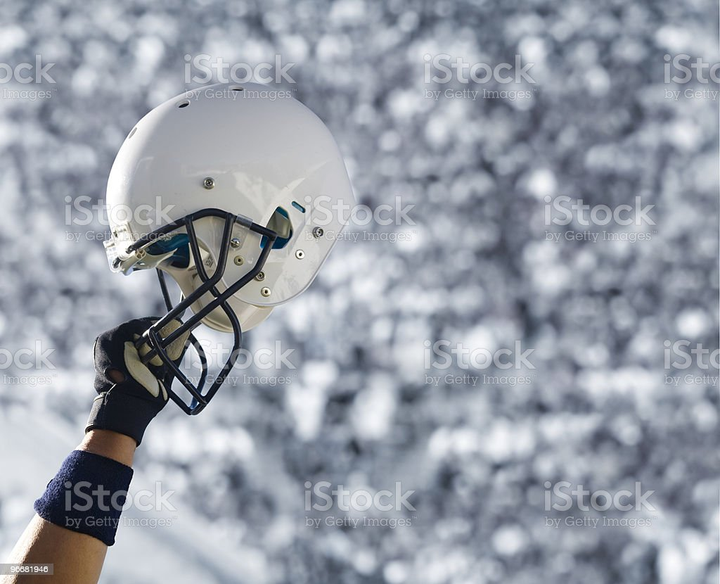 Football Helmet at Stadium (extra large) royalty-free stock photo