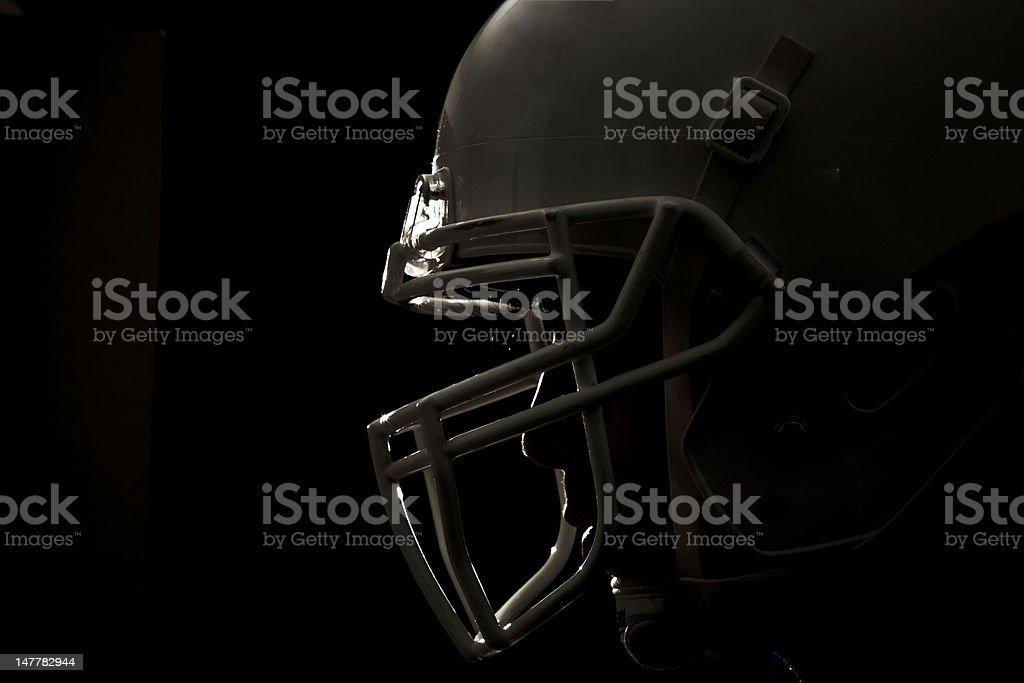 Football helmet closeup 01 stock photo