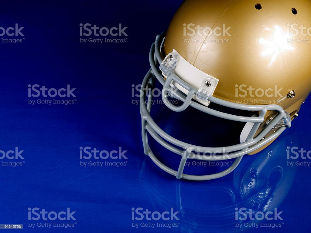 Football Helmet - Corner royalty-free stock photo