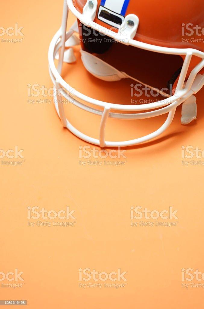 close up shot of a football helmet