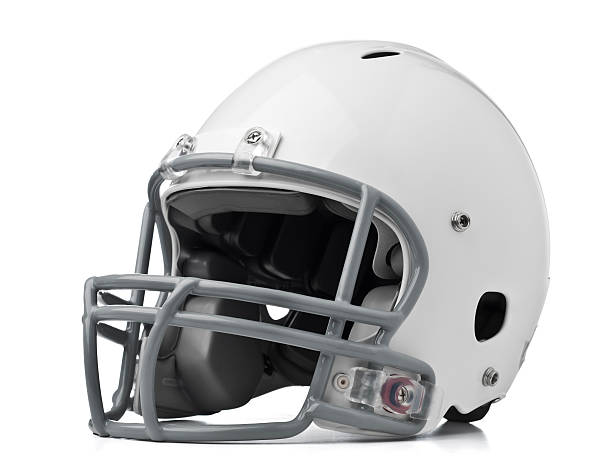 Football Helmet Football helmet on white - Please see my portfolio for other sports related images. football helmet stock pictures, royalty-free photos & images