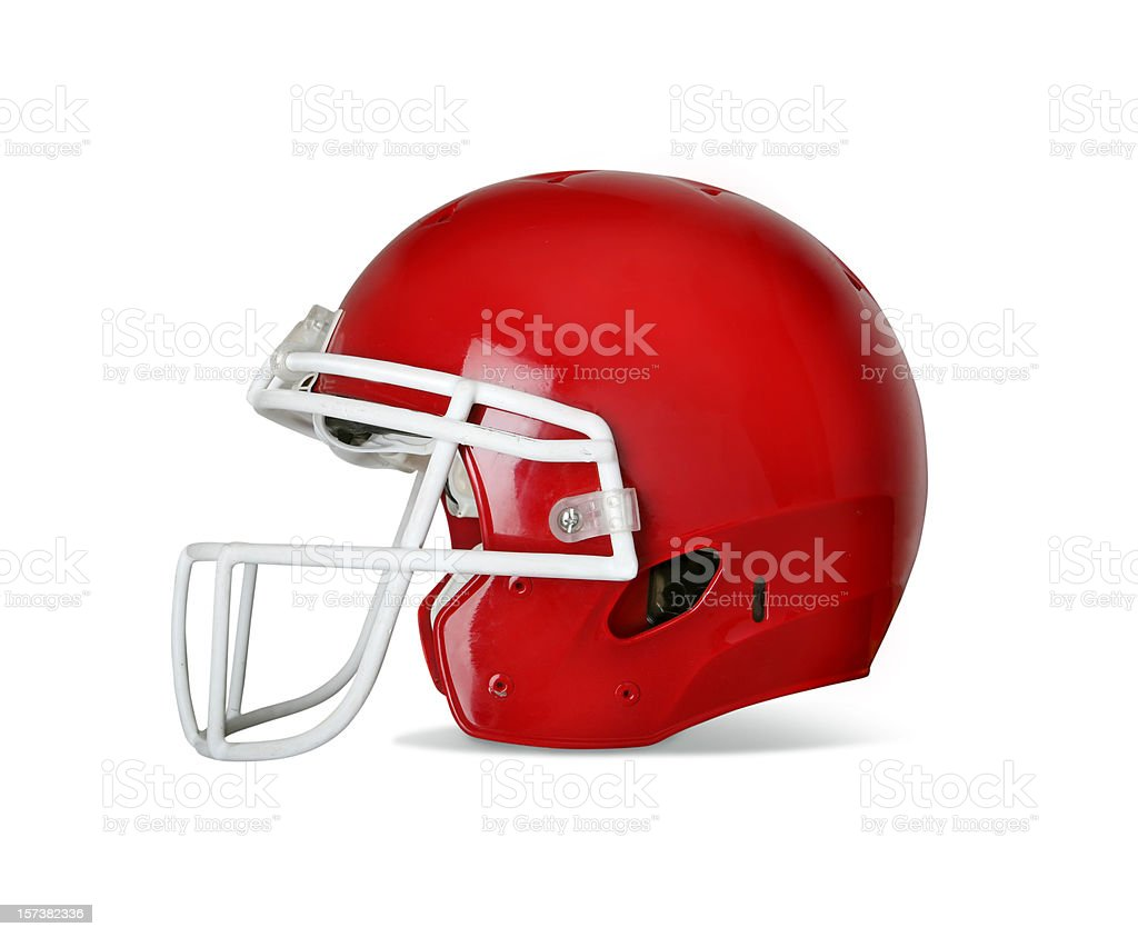 Football Helmet with Clipping Path royalty-free stock photo