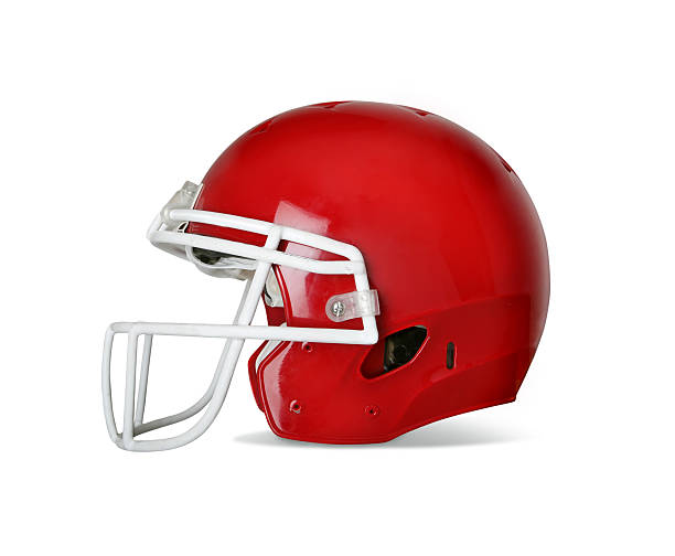 Football Helmet with Clipping Path Football helmet with drop shadow and clipping path included in file. football helmet stock pictures, royalty-free photos & images