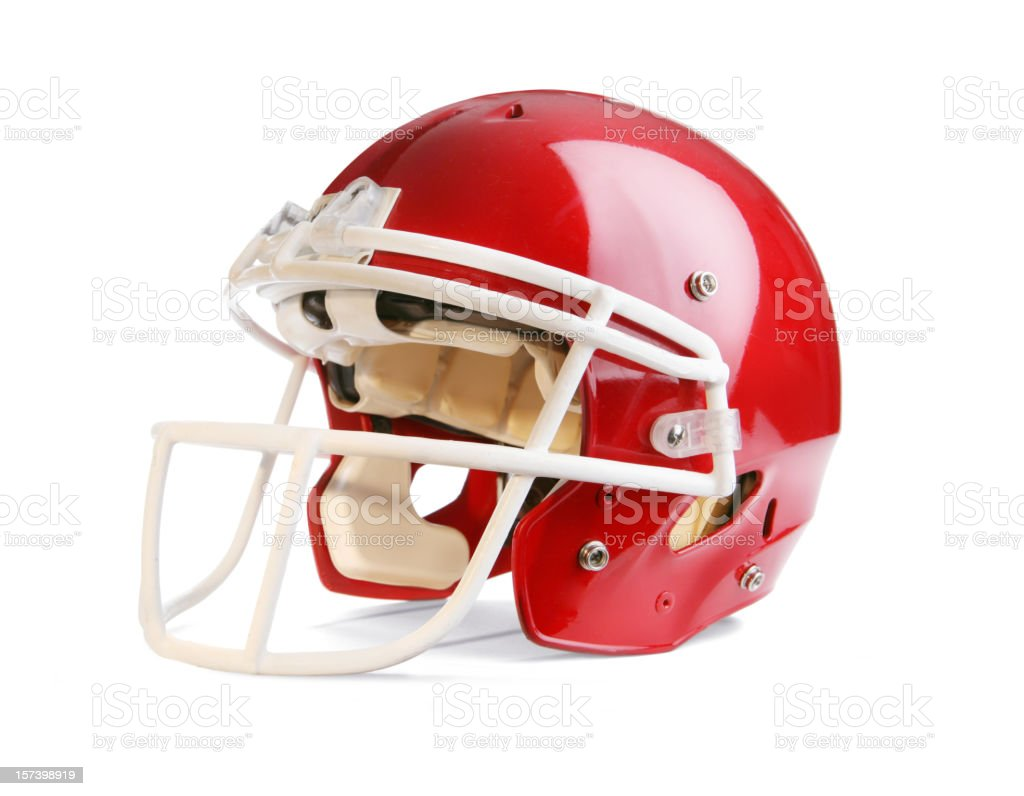 Football Helmet with Clipping Path stock photo