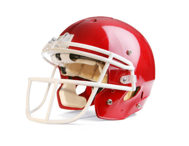 Football Helmet with Clipping Path Football helmet with drop shadow and clipping path included in file. Nice large file. football helmet stock pictures, royalty-free photos & images