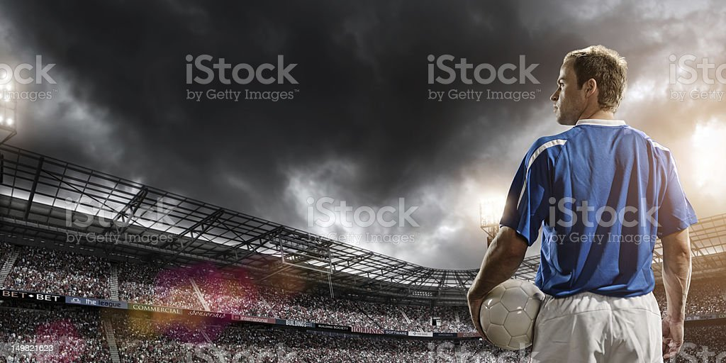 Football Hero royalty-free stock photo