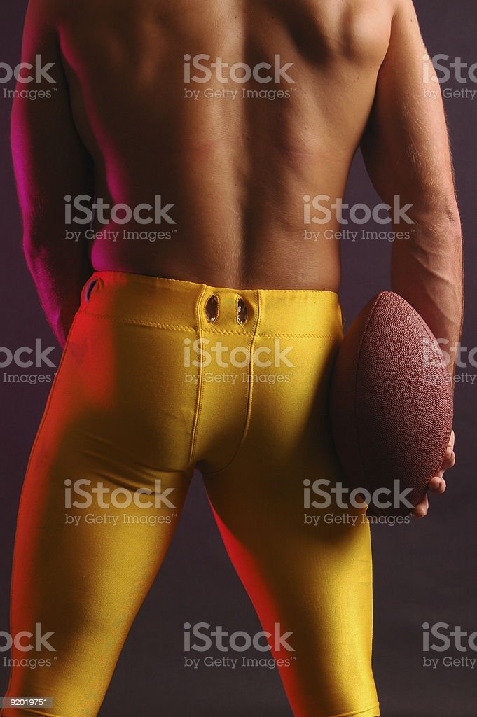 Football hero rear stock photo