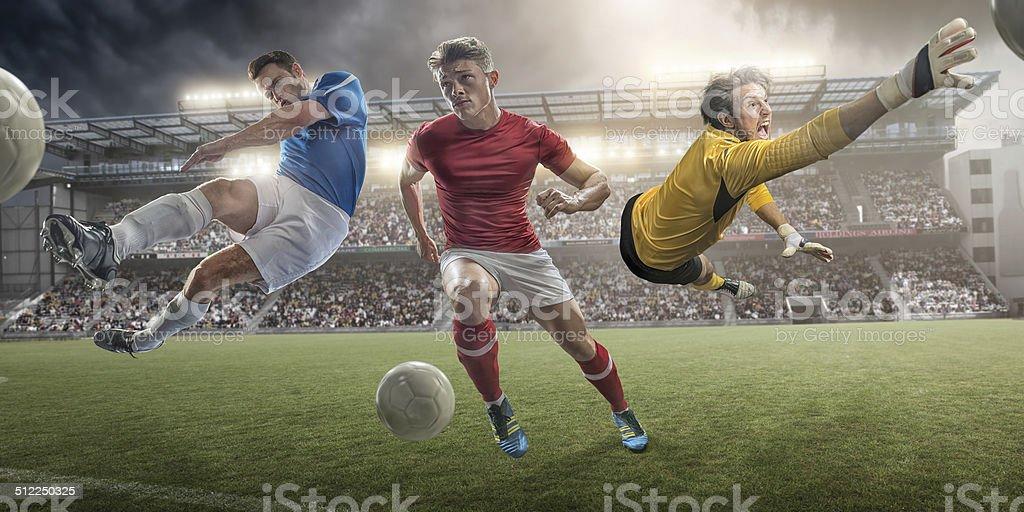Football Heroes stock photo