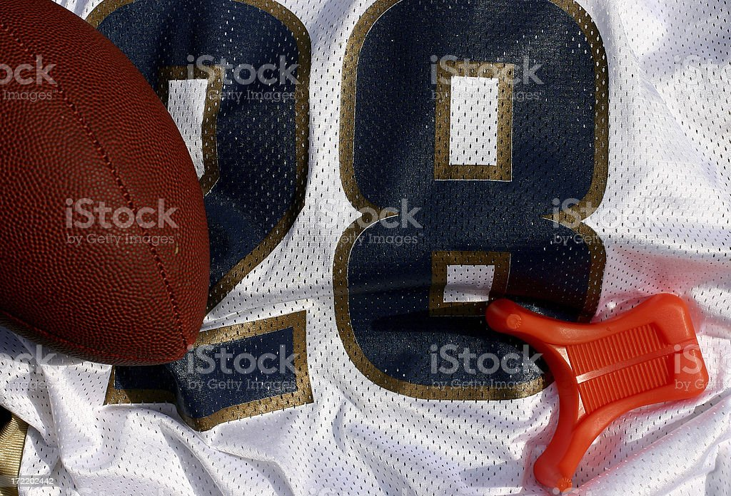 Football, Jersey and Tee royalty-free stock photo