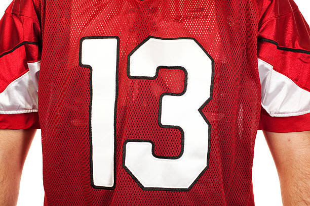 - fußballtrikot - number 13 stock-fotos und bilder