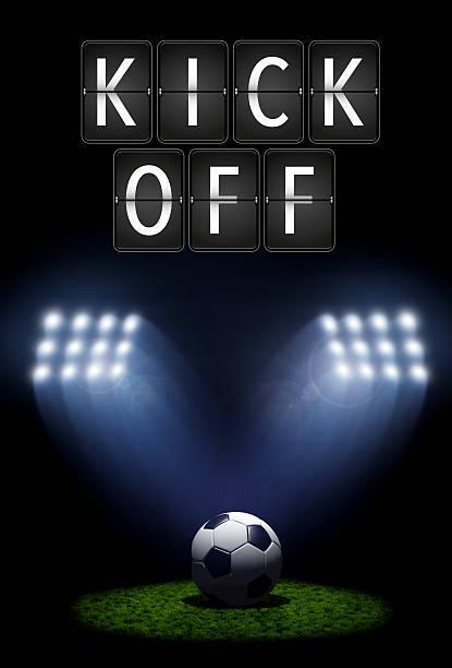 football kickoff - fußball poster stock-fotos und bilder