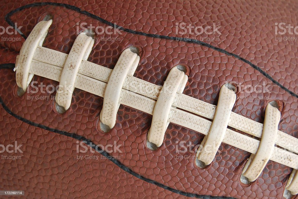 football laces stock photo