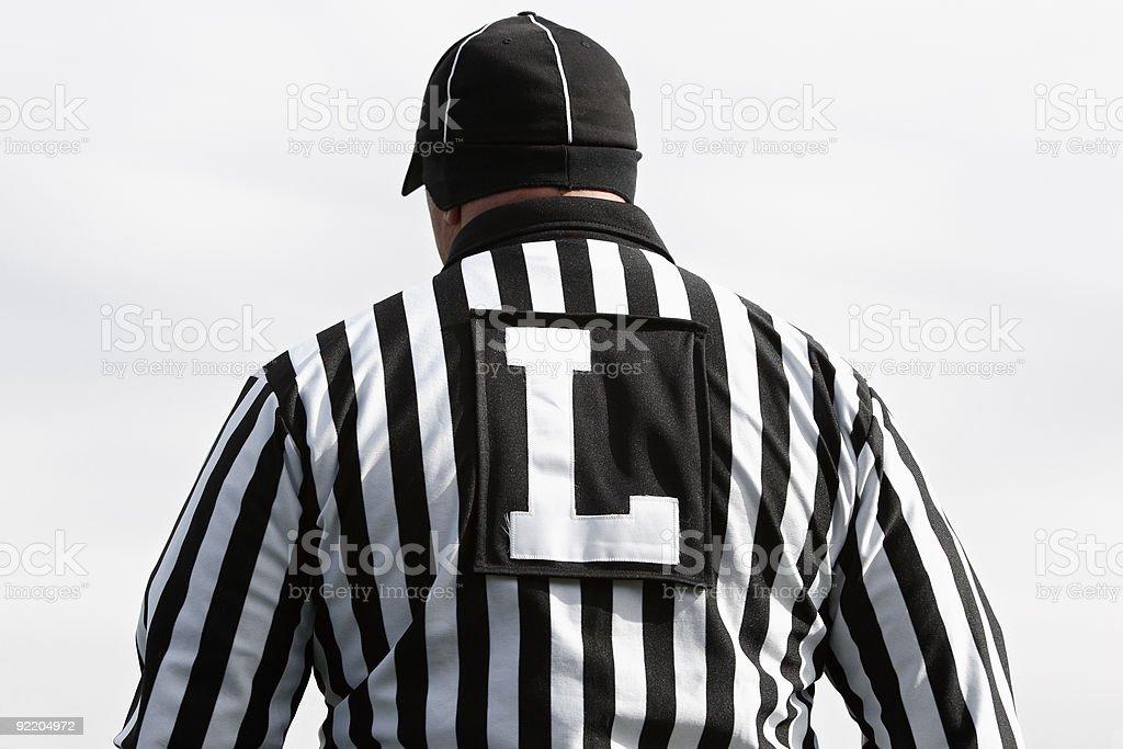 Football Line Judge royalty-free stock photo