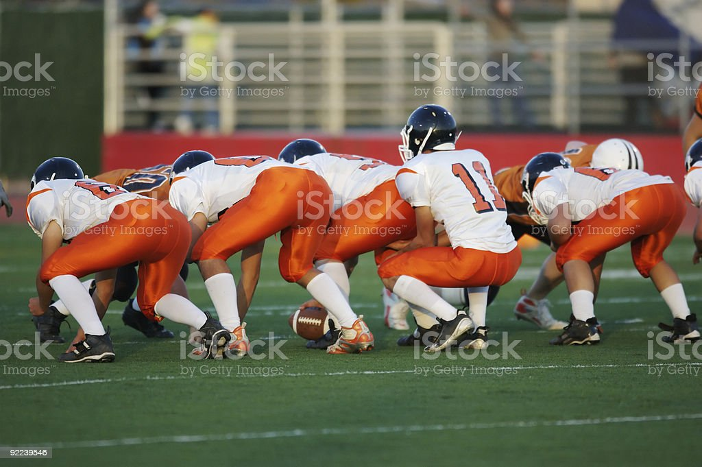 football line stance stock photo