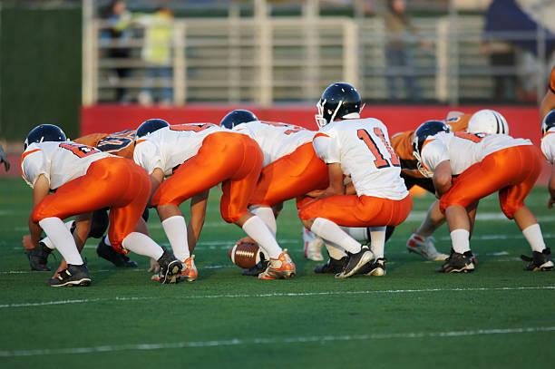 football line stance stock photo