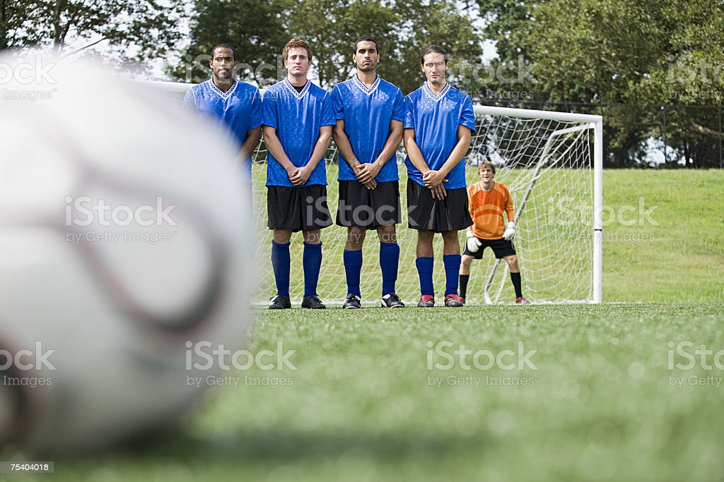 Football match stock photo