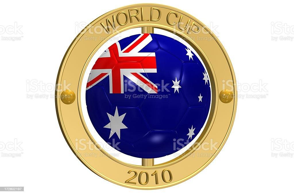 Football Medallion - Australia royalty-free stock photo