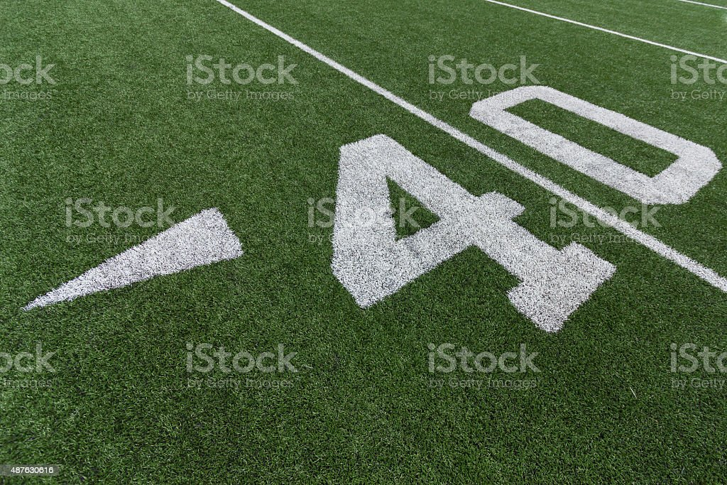 Football Numbers stock photo