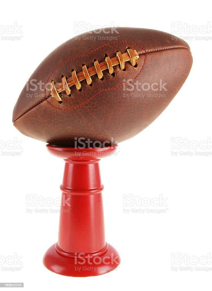 Football on a Pedestal royalty-free stock photo