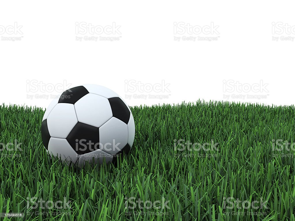 Football on grass stock photo