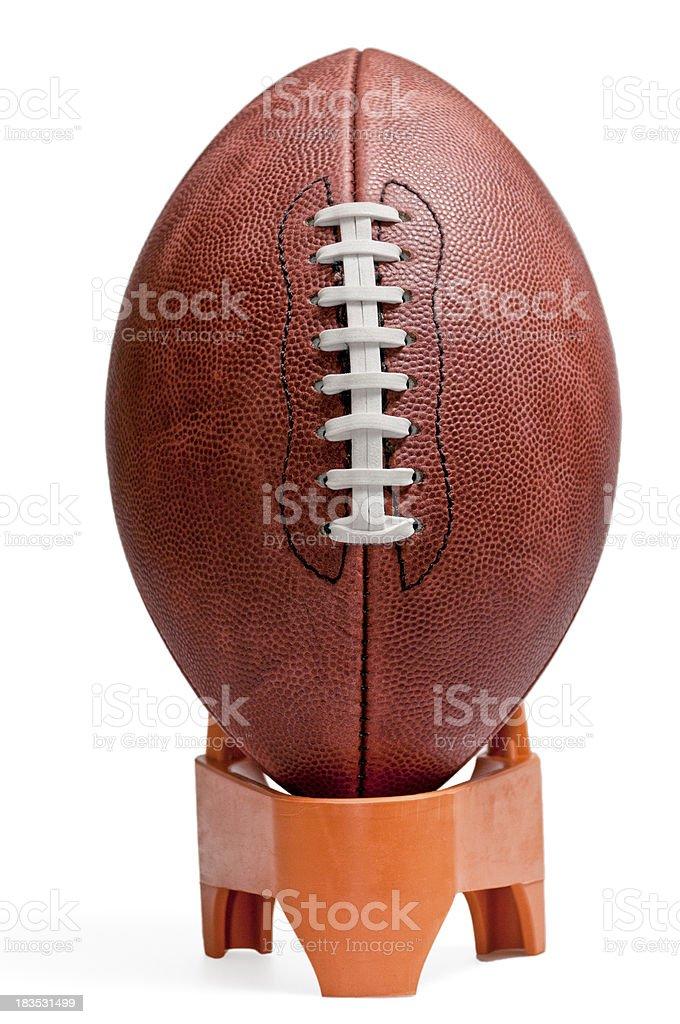 NFL Football on Kicking Tee royalty-free stock photo