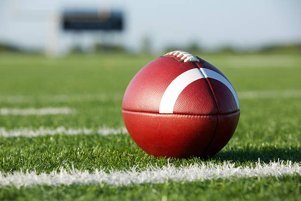 Football on the Field American Football on the Field ncaa college football stock pictures, royalty-free photos & images