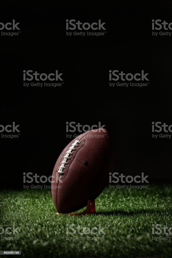 Football on the tee stock photo