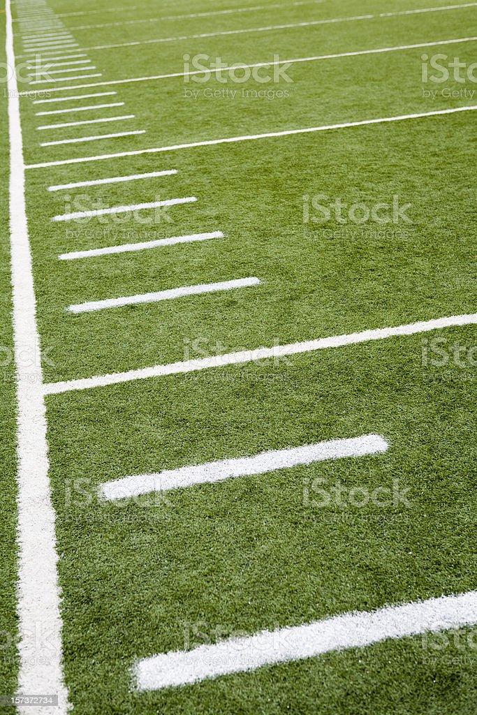 Football or soccer field line markings stock photo