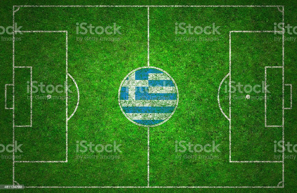 Football Pitch stock photo