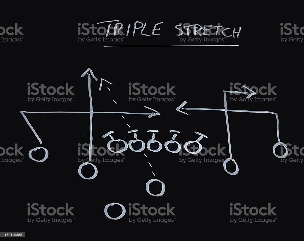 Football play 4 stock photo